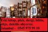 İstanbul kitap alan yerler, eski kitap alanlar 0545 975 99 1