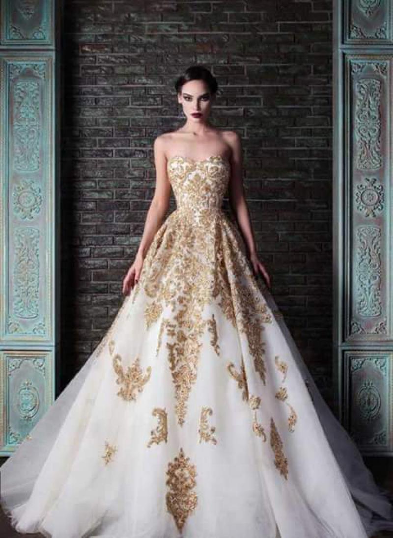 Royal Blue And Gold Wedding Dresses - Missy Dress