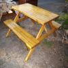 Bahçe ve piknik masası 6 kişilik renkli