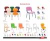 Plastik sandalyeler, öğrenci sandalyesi, öğrenci sandalyesi