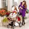 Hotmom bebek arabası ana kucaklı beyaz rose kasa